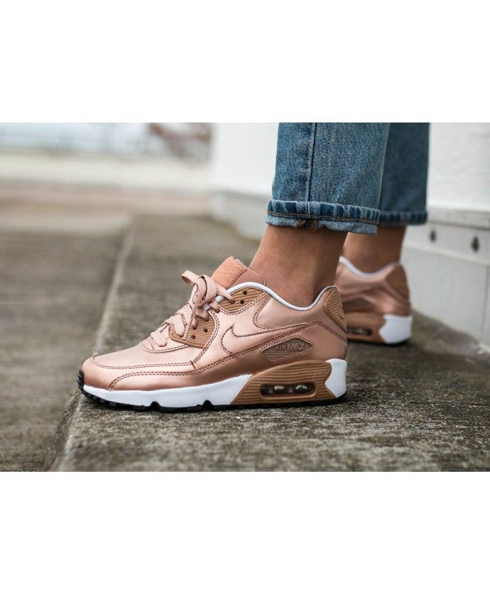 chaussures de sport a3706 10bab Chaussure Nike Air Max 90 Leather Rose Gold | 90s | Air max ...