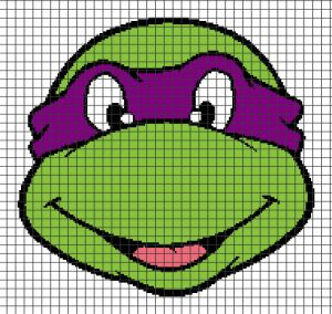Teenage Mutant Ninja Turtles – Donatello (Chart/Graph AND Row-by-Row Written Crochet Instructions) – 04 — YarnLoveAffair.com