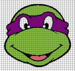 Teenage Mutant Ninja Turtles – Donatello (Chart/Graph AND Row-by-Row Written Crochet Instructions) – 04 — YarnLoveAffair.com