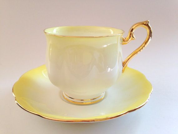 Yellow Royal Albert Tea Cup and Saucer Bone by AprilsLuxuries