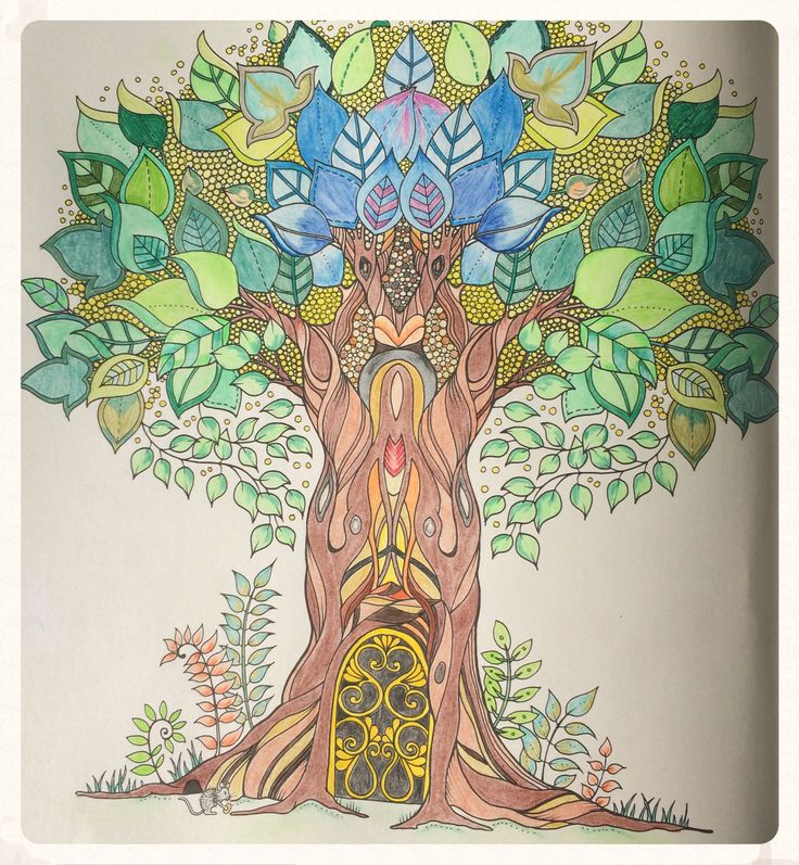 Johanna Basfords Enchanted Forest Tree BasfordAdult ColoringColoring BooksPencil