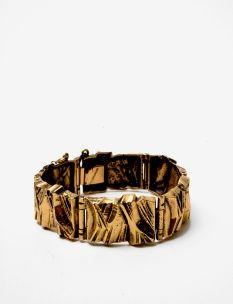 pentti sarpaneva gilt bronze bracelet