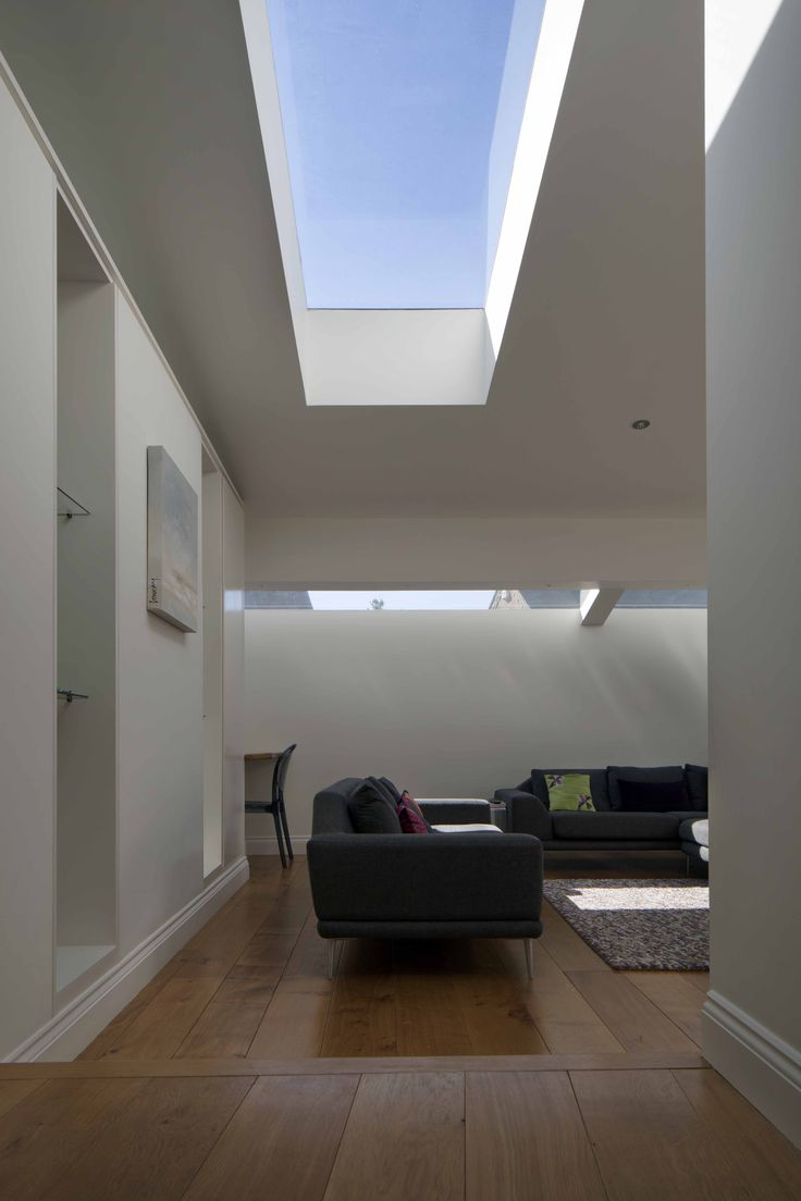 Anglian architectural roof lights in Open plan living space by chadwickdryerclarke