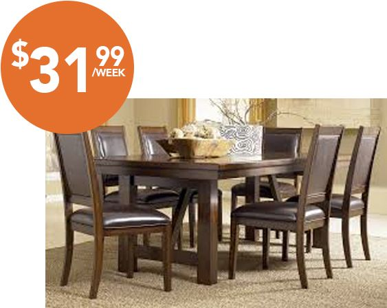 Majik Rent to Own Ashley Holloway 7 Piece Dining Set Id D696. 1000  images about Dining on Pinterest