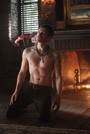 Klaus (Joseph Morgan) Shirtless on The Vampire Diaries