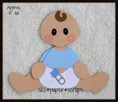 Baby Boy Diaper KID Sitting Scrapbook Paper Piecing