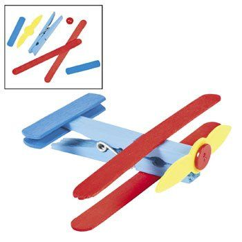 Clothespin Airplane Craft Kit - Vacation Bible School & Crafts for Kids:Amazon:Arts, Crafts & Sewing