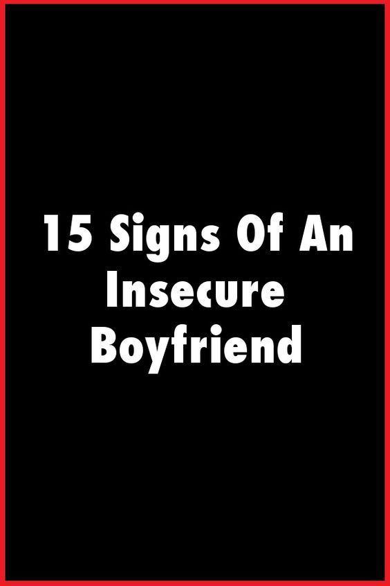 Insecure guys signs