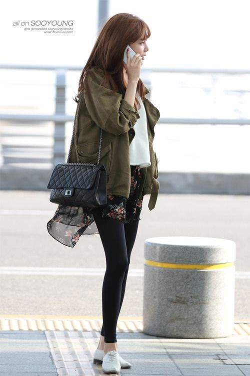 Snsd Sooyoung Korean Stars Airport Fashion Casual Style Pinterest Posts Nice And
