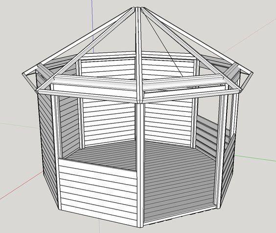 17 best ideas about pavillon selber bauen on pinterest   selber ... - Gartenpavillon Selber Bauen