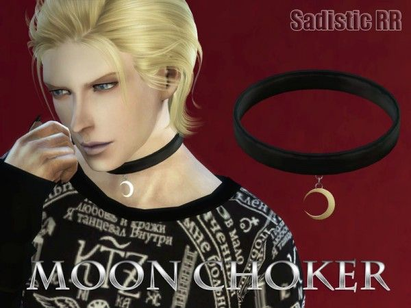 The Sims Resource: Moon choker by Sadistic RR • Sims 4 Downloads