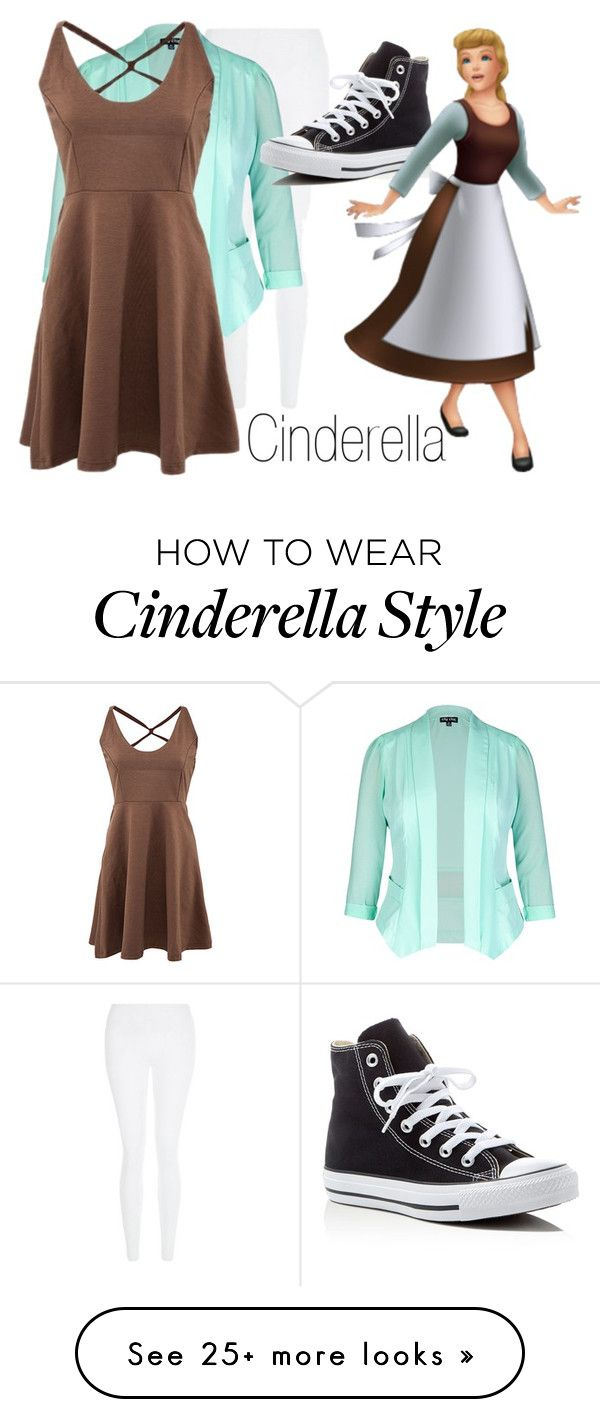 """""""Cinderella~ DisneyBound"""" by basic-disney on Polyvore featuring New Look, City Chic, Converse, Once Upon a Time and plus size clothing"""