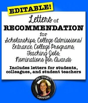 Best Recommendation Letters Images On   Academic