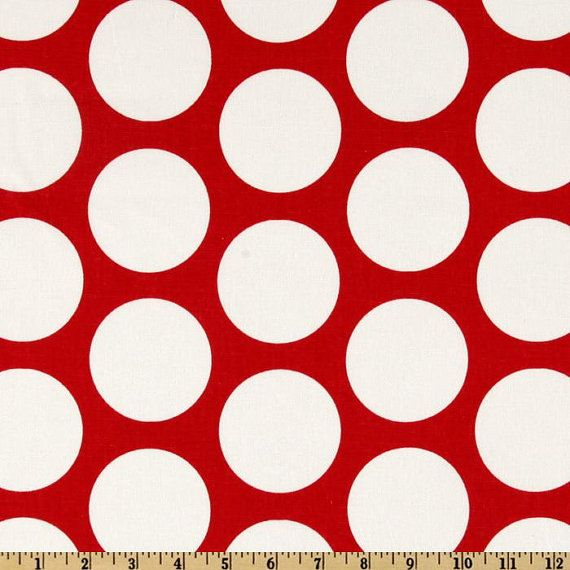 Big Red and White Polka Dot Pillow cover by SweetMagnoliaIntrs, $13.00