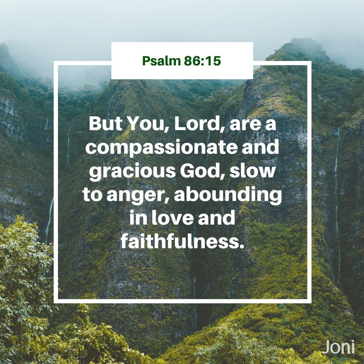 """""""But You, Lord, are a compassionate and gracious God, slow to anger, abounding in love and faithfulness."""" - Psalm 86:15 [Daystar.com]"""