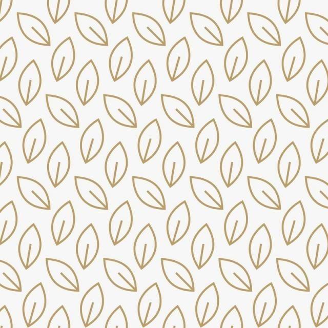 Geometric Floral Leaf Ornament Line Seamless Pattern Modern