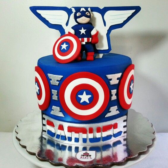 Capitain América Cake