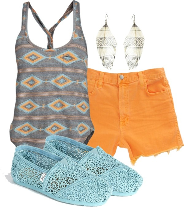 Cute!: Bright Outfits, Beach Outfits, Meredith Wilson, Beaches Outfits, Summer Outfits, Aztec Tanks, Summer Colors, Create, Blue Grey