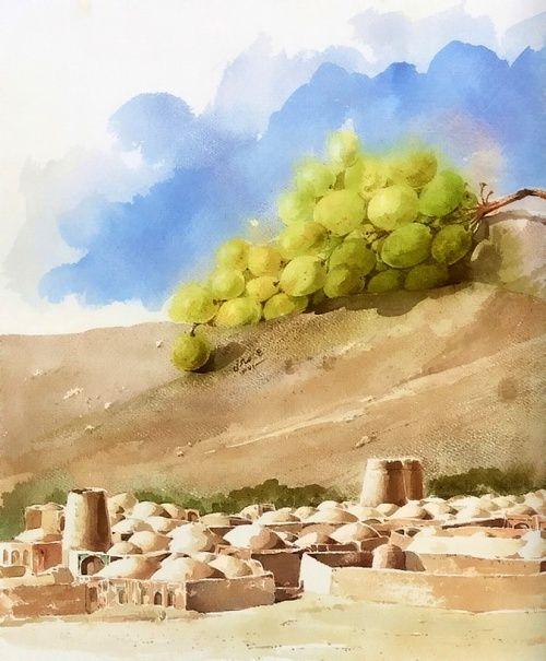 Акварели Ali Akbar Sadeghi (80 работ)