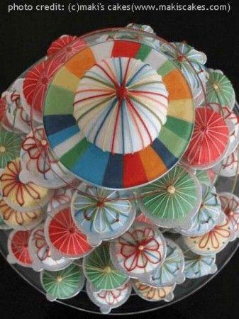 手毬がモチーフのウェディングケーキ イギリス編   世界のウエディングケーキ パティシエたちの驚きのテクニック