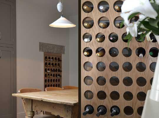 Contemporary Rustic Wine Bottle Storage