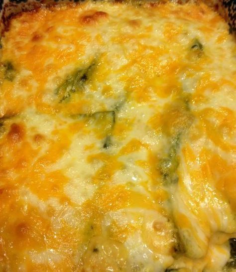 CHICKEN CHILI RELLENO CASSEROLE Used 2.5 pounds of chicken. Need to follow the directions and use a 9x13 pan next time!