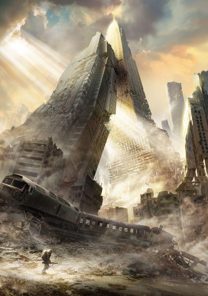 """Third rail 2"" by François Baranger [=> http://f-baranger.cgsociety.org/art/third-rail-2-sci-fi-2d-1292291 ]"