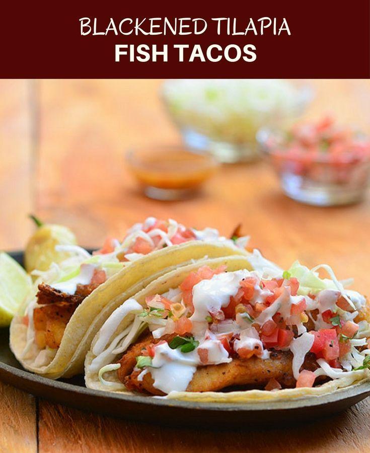 Blackened tilapia fish tacos recipe blackened tilapia for Blackened fish recipe