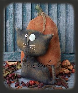Primitive Halloween cat
