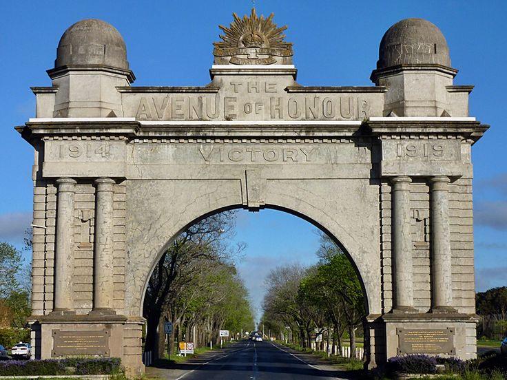 The arch Way of Honour Ballarat Victoria Australia