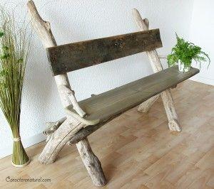 Banc en bois flott et planches de r cup ration par benoit - Planche bois flotte acheter ...