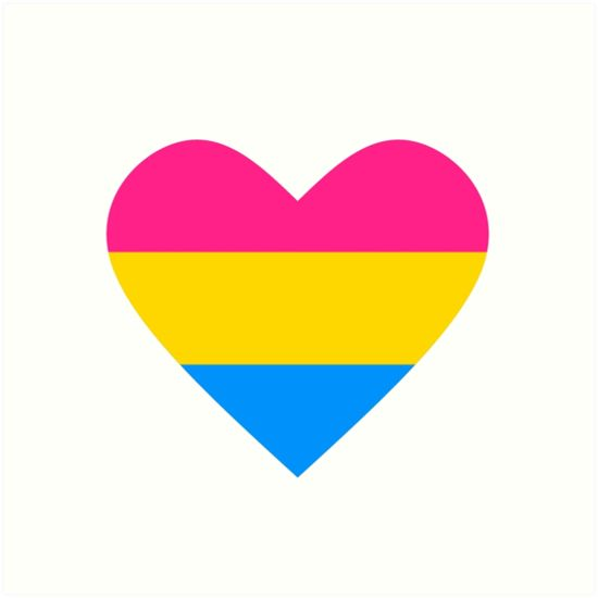 Pansexual Heart  Google Search Tattoo Stuff Pinterest