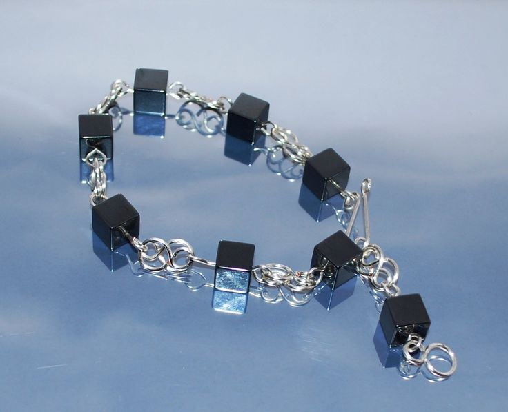 Unisex Bracelet With Hematite by IacobJewelry on Etsy