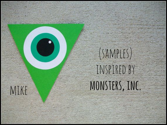 Monsters Inc. SAMPLES by LaPetiteLizard on Etsy