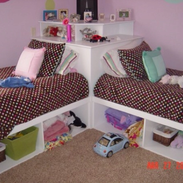 Great alternative to bunk beds if kids get to share a room.