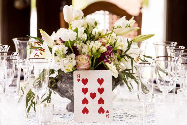 Queen of Hearts Table Numbers - These Disney Wedding Details Will Make Your Big Day Extra Magical - Photos