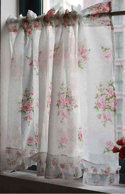 Shabby Floral Curtains