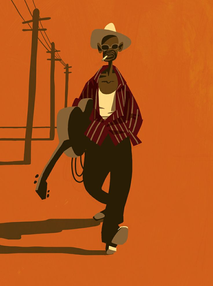 Amazing Lightnin' Hopkins art!