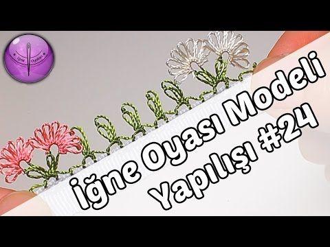 Çilekli İğne Oyası Modeli Yapımı HD Kalite - YouTube