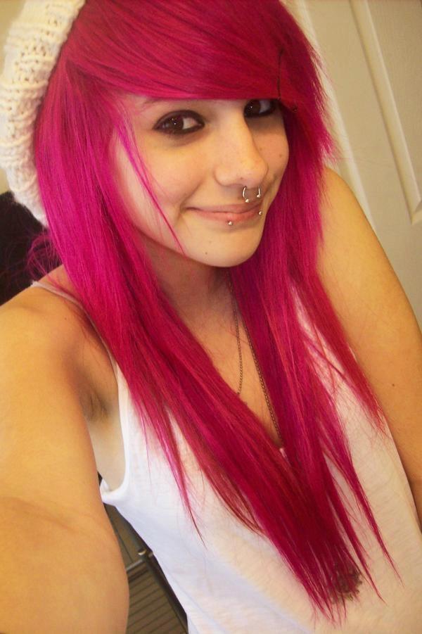 Cute Scene Hair, septum piercing