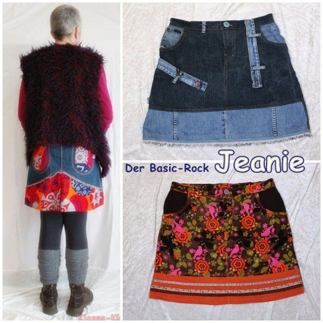 hot sales 04e8f 30f2d Jeanie, Basic-Jeansrock, Kreativ-Ebook | Clothing Refashion ...