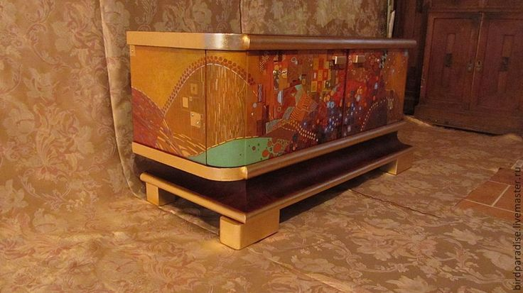 Купить Комод антикварный, роспись по мотивам Климта .Мебель антикварная. - Мебель, антикварная мебель, комод