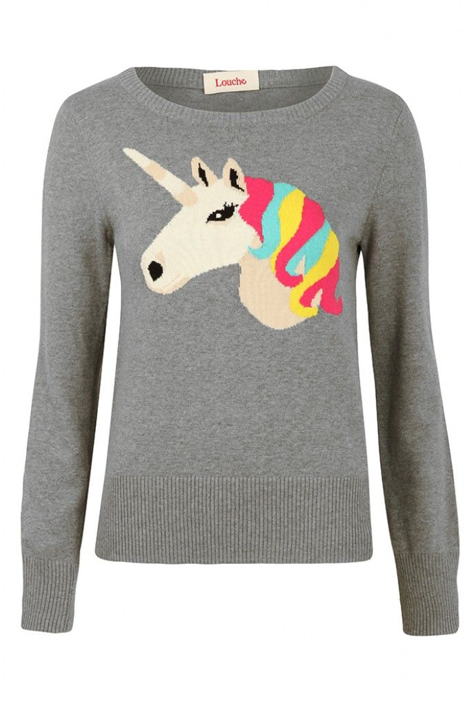 Louche Unicorn Intarsia Jumper   Shop women's animal print jumpers   JOY