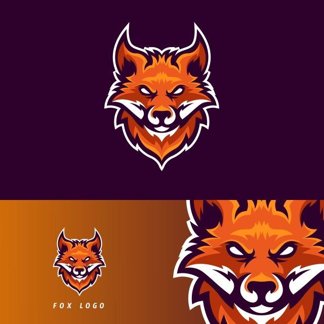 Fox Esport Gaming Mascot Logo Template Fox Logo Sports Logo Design Logo Templates