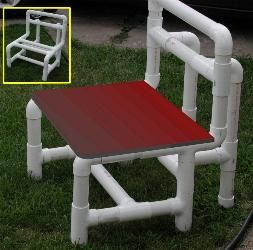 9 best pvc fencing images on pinterest pvc pipes crafts for Pvc furniture plans