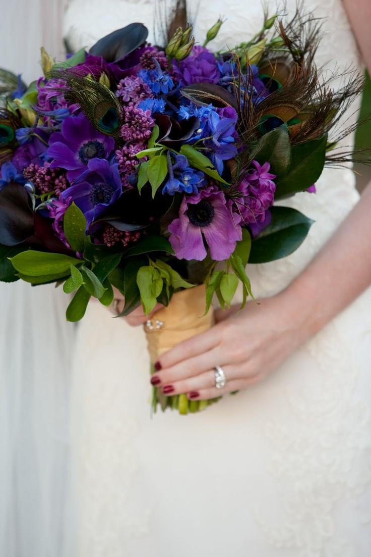 121 best Purple and Blue Bouquets images on Pinterest | Bridal ...