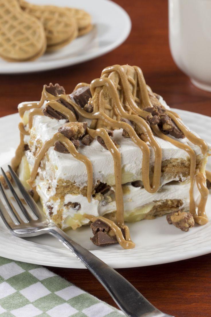 Peanut Butter Cookie Lasagna   mrfood.com