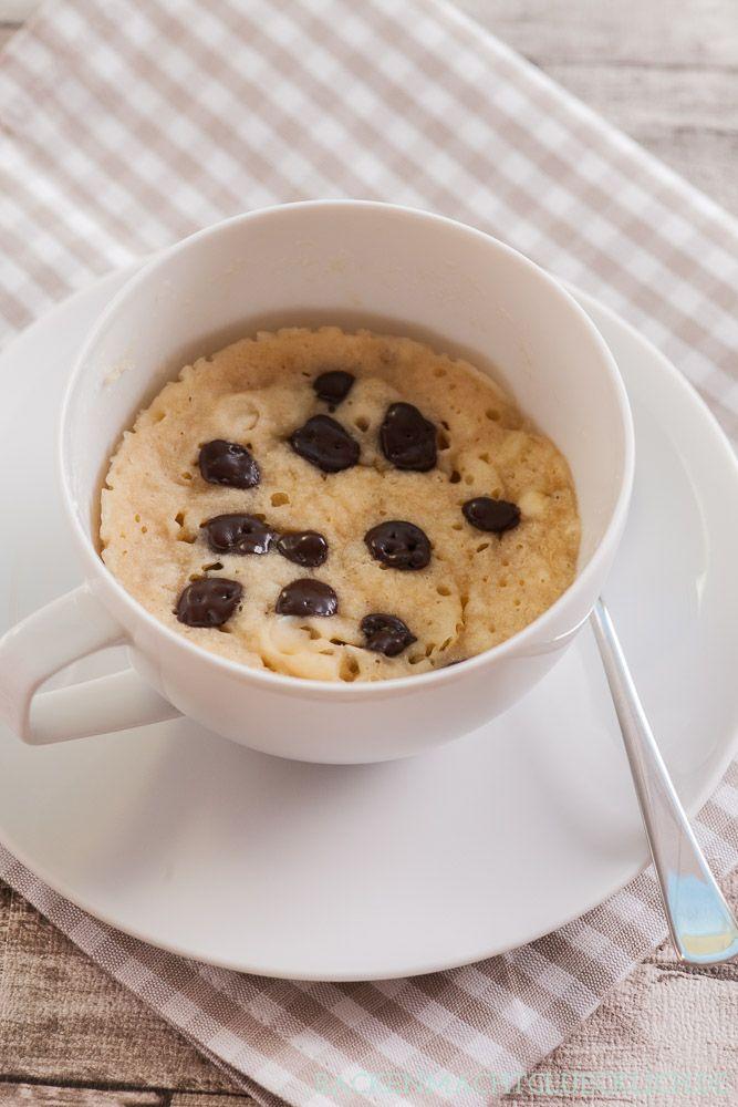 Backen macht glücklich | Veganer Mikrowellen-Tassenkuchen ohne Ei | https://www.backenmachtgluecklich.de