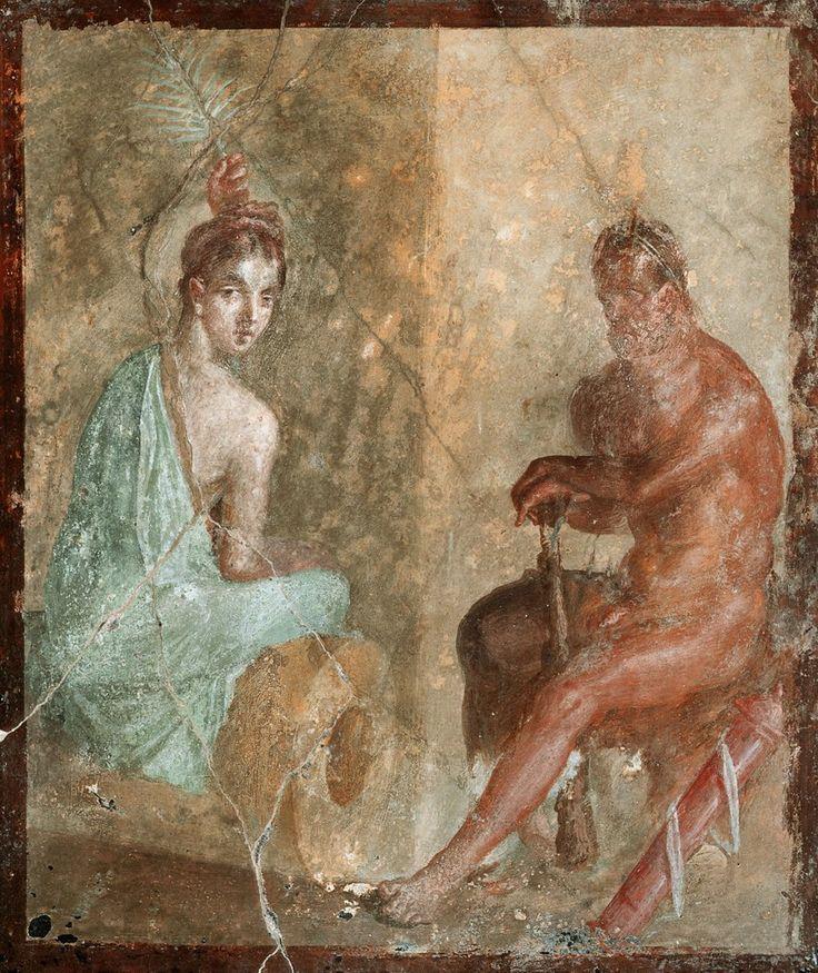 Jakob Philipp Hackert. Ворота в Помпеи Но, наверное, самой известной фреской Помпеи является «Портрет молодой девушки», или «Портрет поэтессы» в круглом медальоне. Кто эта женщина? Она выглядит удивительно современно: такие прически и серьги-колечки носят и сегодня. Сеточка…
