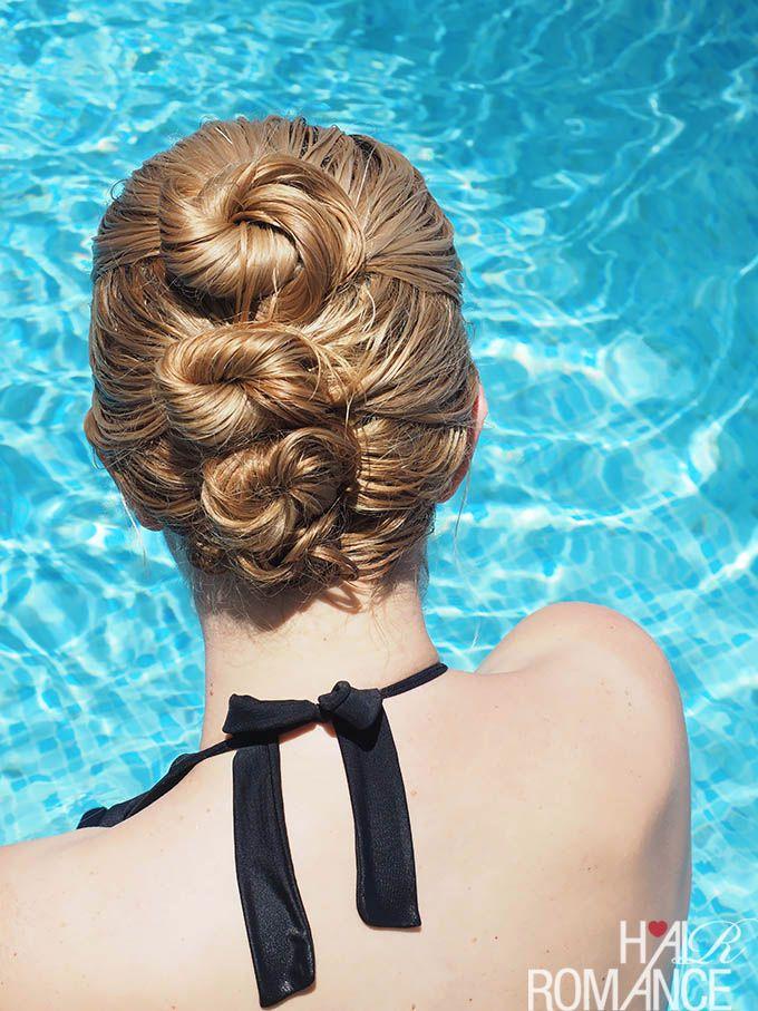 2 min easy hairstyle tutorial for wet hair   Wet hair ...